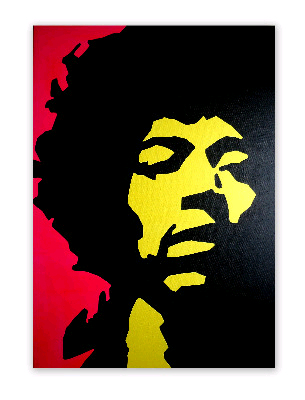 Jimi Hendrix - Original Pop Art Canvas Painting - by Dominic Joyce SOLD