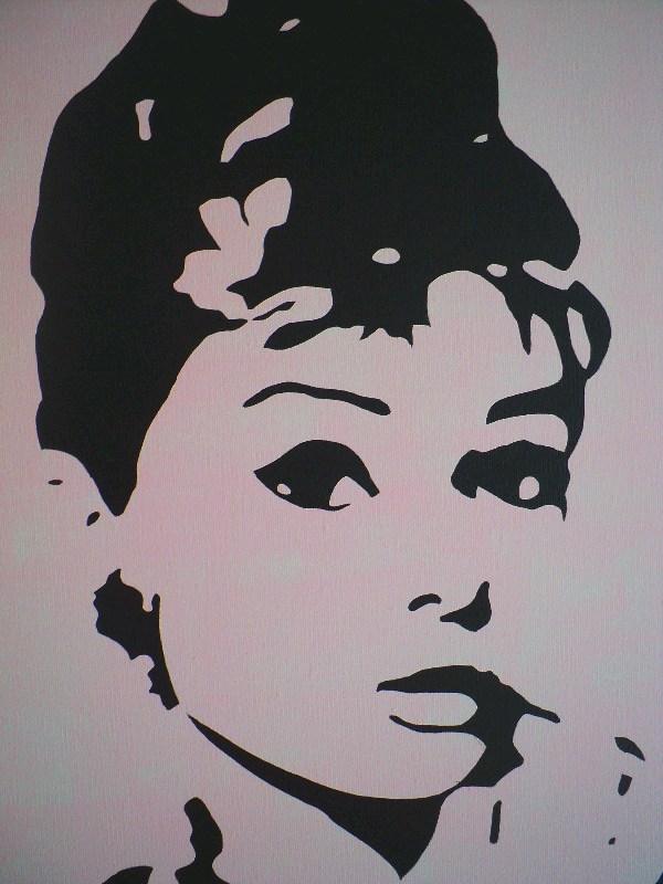 Audrey Hepburn Original Pop Art Canvas Painting - By Dominic Joyce