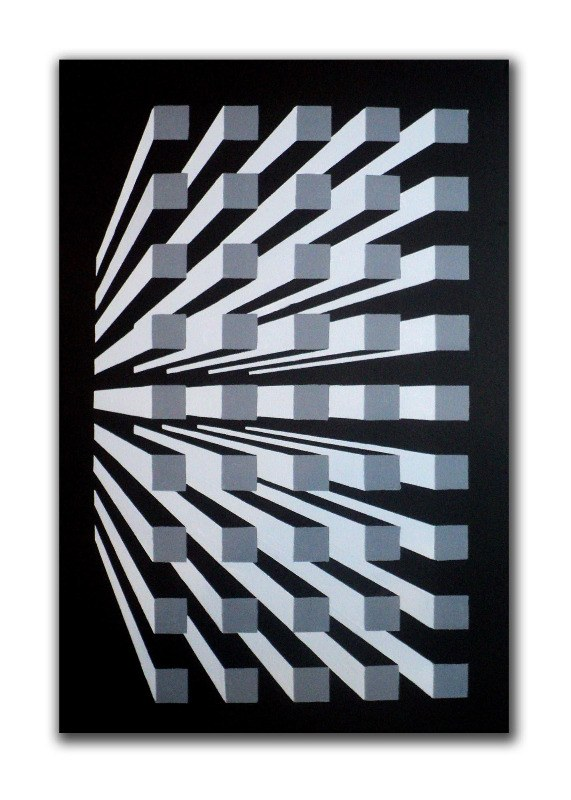 grid system - original canvas painting by dominic joyce 1