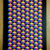 CMYK - Original Framed Geometric Art Canvas Painting by Dominic Joyce 2