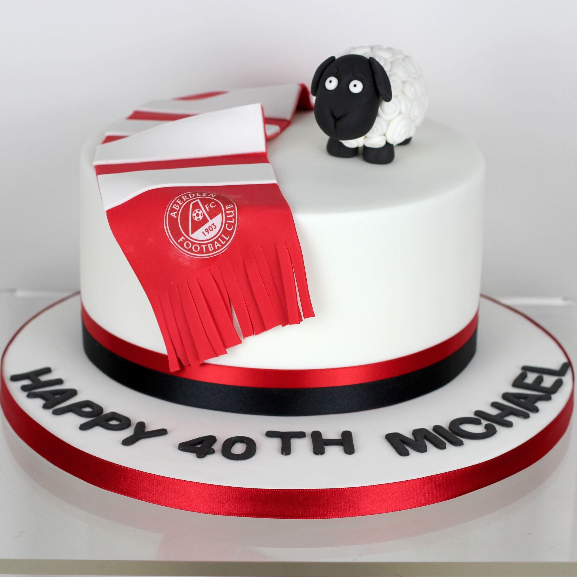 Football sheep cake