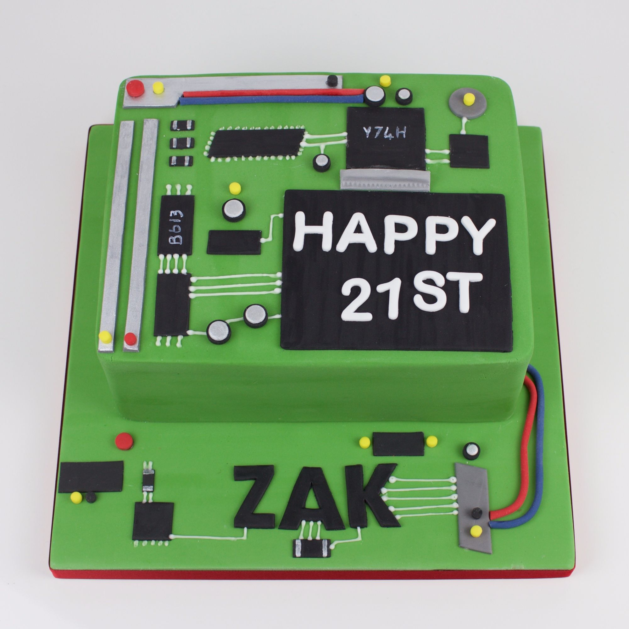 Network, circuit board cake.