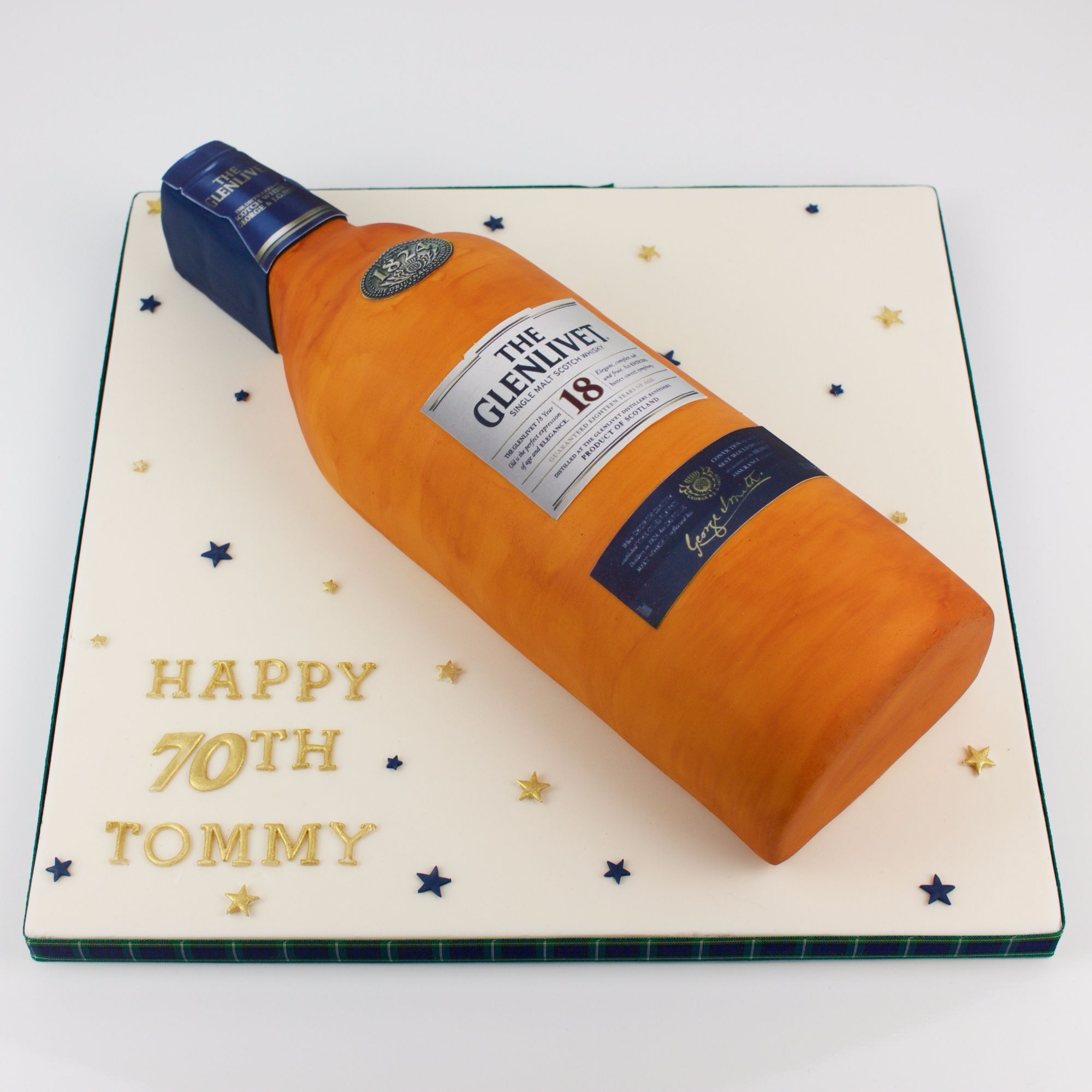Whisky bottle cake.
