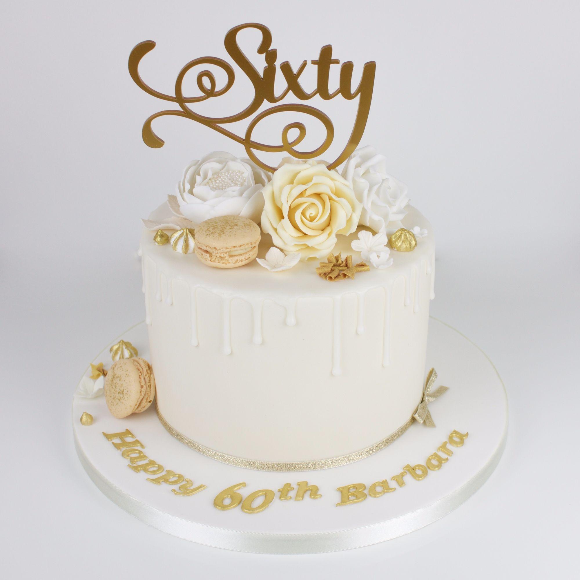 Sixty drip cake.