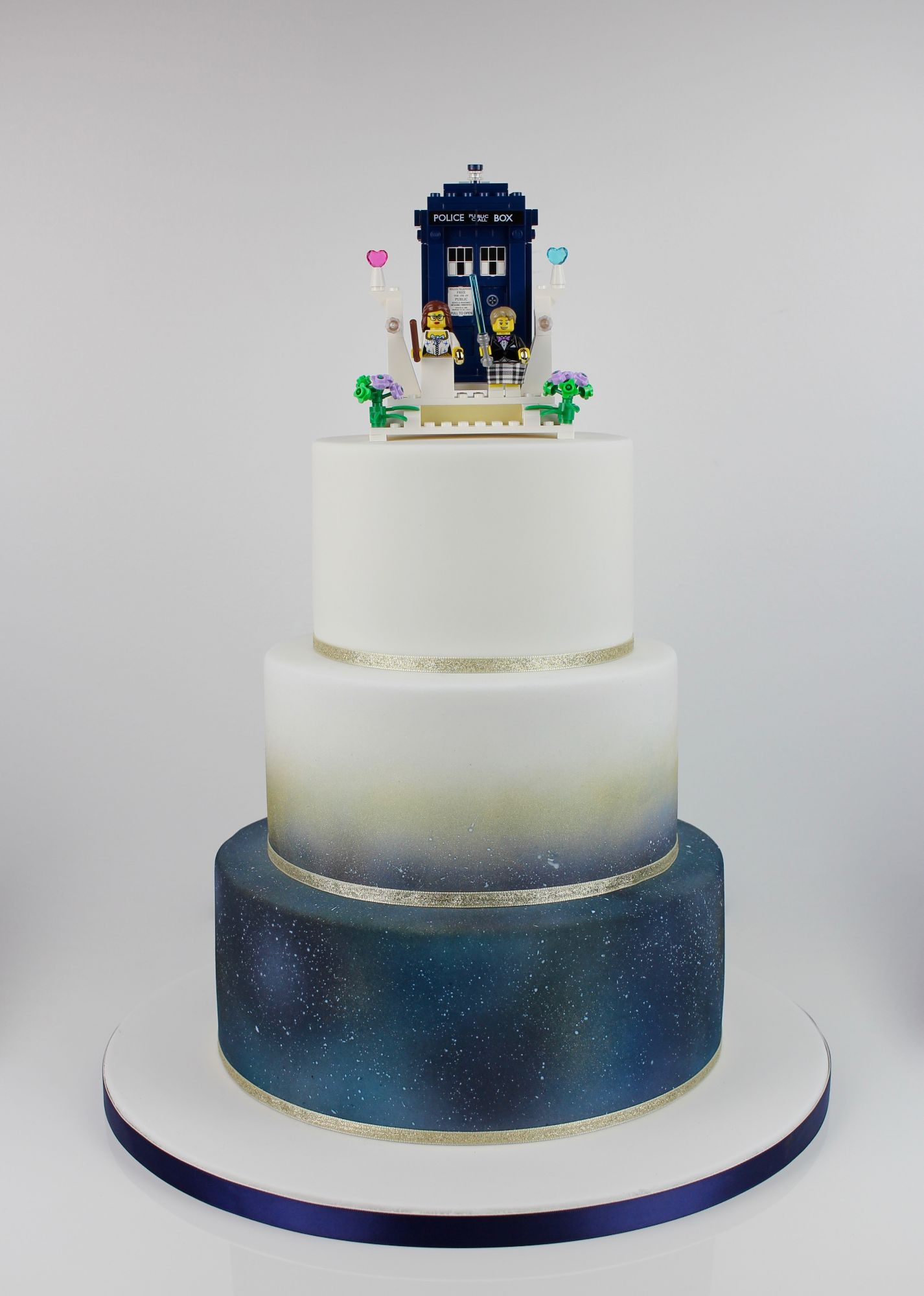 Galaxy effect with Dr Who topper