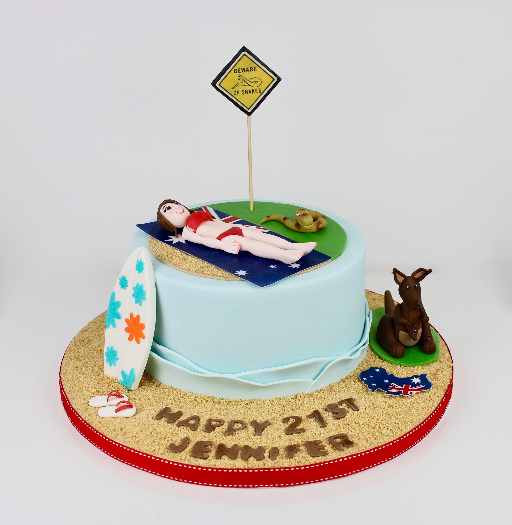 Australian themed cake
