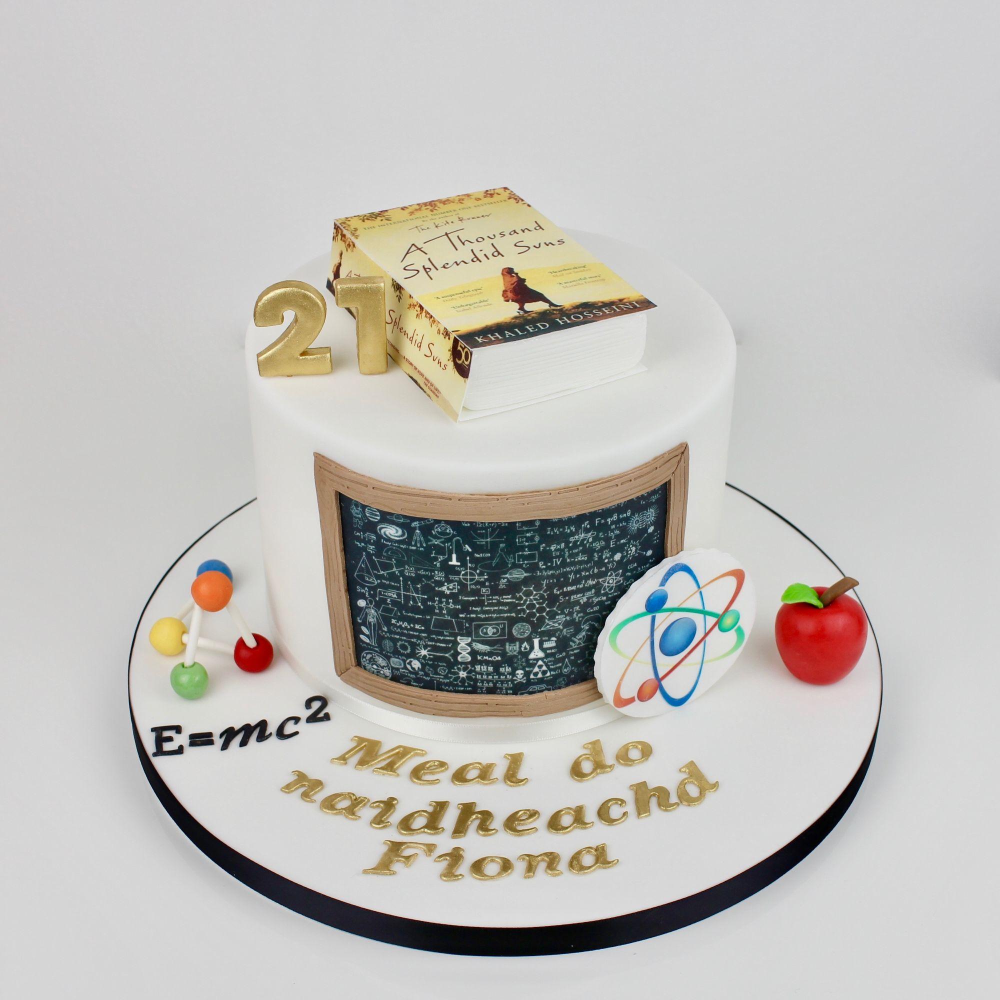 Physics & reading book cake