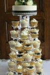 Lace cupcake tower set up at Edinburgh Zoo