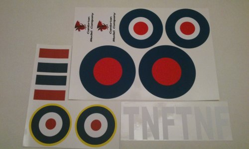 Dec/CA04  Funfighter Hurricane Decals Set