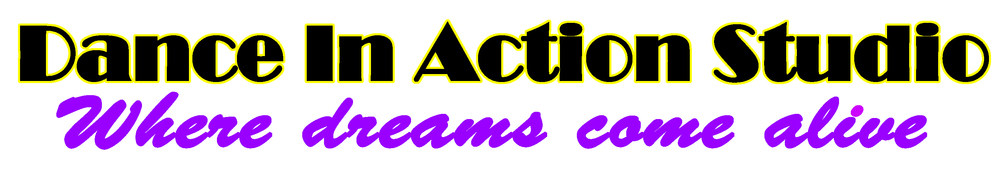 Dance In Action Studio, site logo.