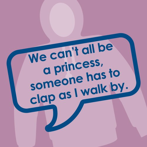 Ref: 016 We can't all be princesses