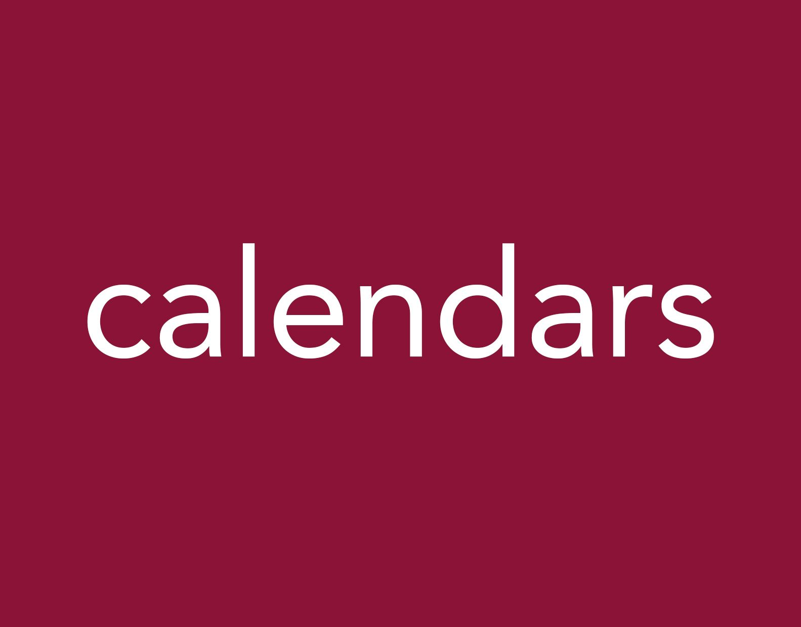 portfolio calendars