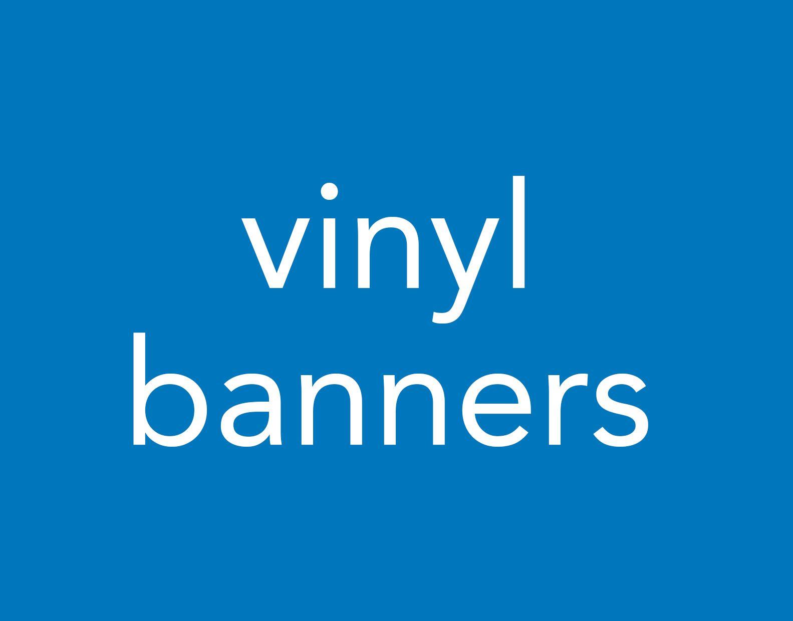 Portfolio vinyl banners