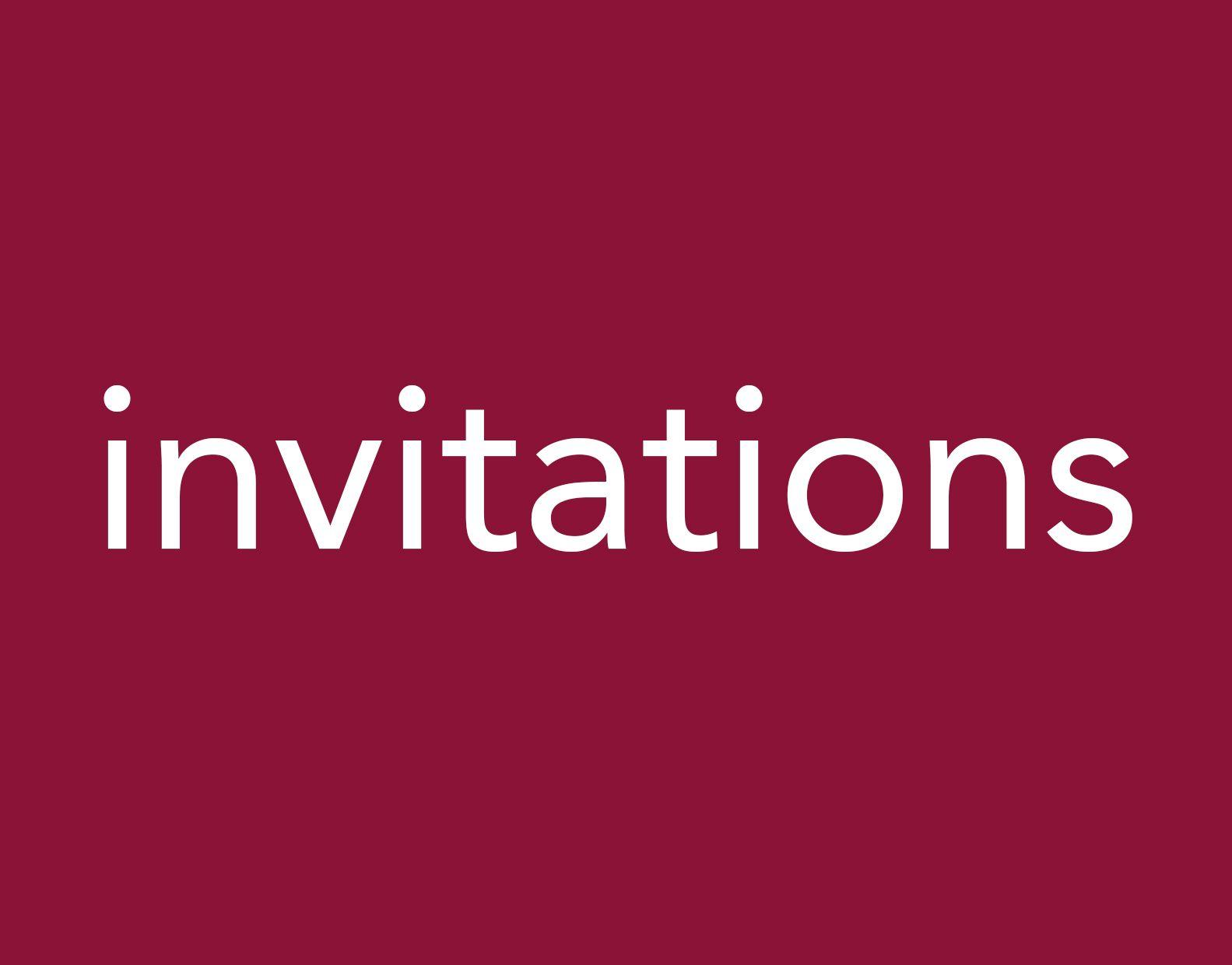 Portfolio invitations