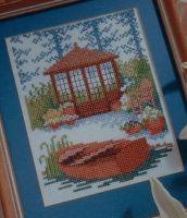 Summer House in a Tranquil Garden - Cross Stitch Chart