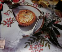 Festive Berries Christmas Table Linen ~ Cross Stitch Charts