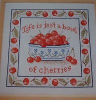 Life is Just a Bowl of Cherries ~ Cross Stitch Chart