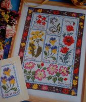 Wild Flower Sampler ~ Cross Sttich Chart