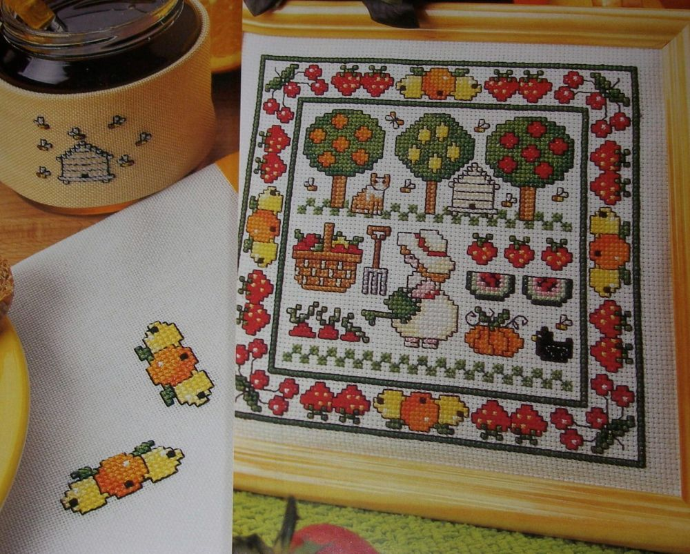 Fruits Sampler, Cards, Coasters ~ Cross Stitch Charts