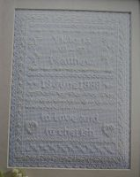 White Wedding Sampler ~ Cross Stitch Chart