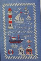 Nautical Seaside Sampler ~ Cross Stitch Chart