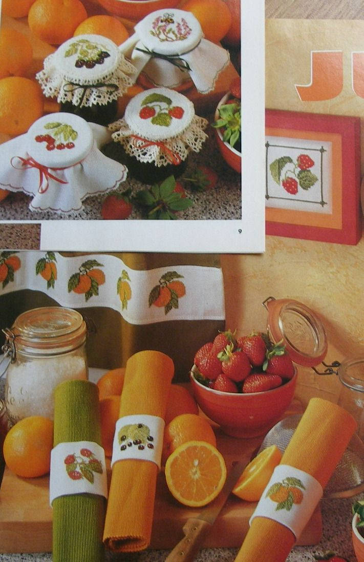 Fruit Napkins & Jam Jar Lacies ~ Cross Stitch Charts