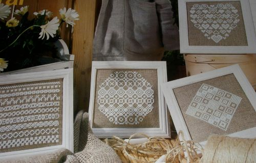 Geometric Rustic Samplers ~ Four Cross Stitch Charts