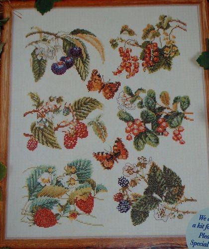 Thea Gouverneur: Summer Fruits Sampler ~ Cross Stitch Chart
