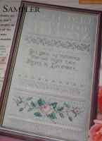 God Gave Us Memories Roses Sampler ~ Cross Stitch Chart