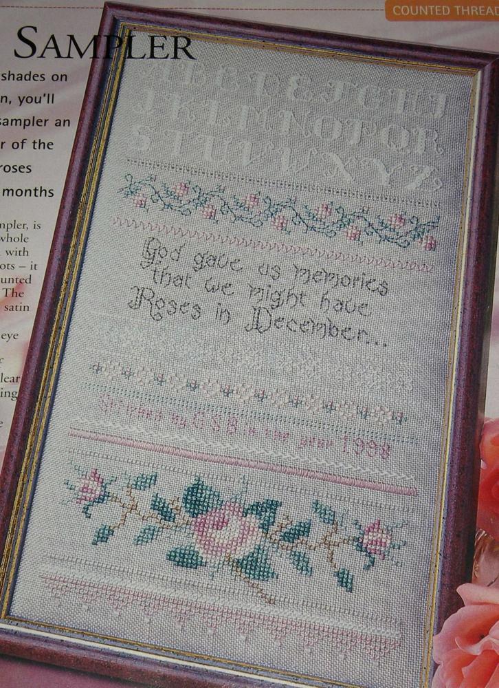 God Gave Us Memories Roses Sampler ~ Cross Stitch Chart