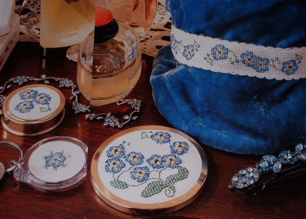 Forget Me Not Flowers ~ Four Cross Stitch Charts