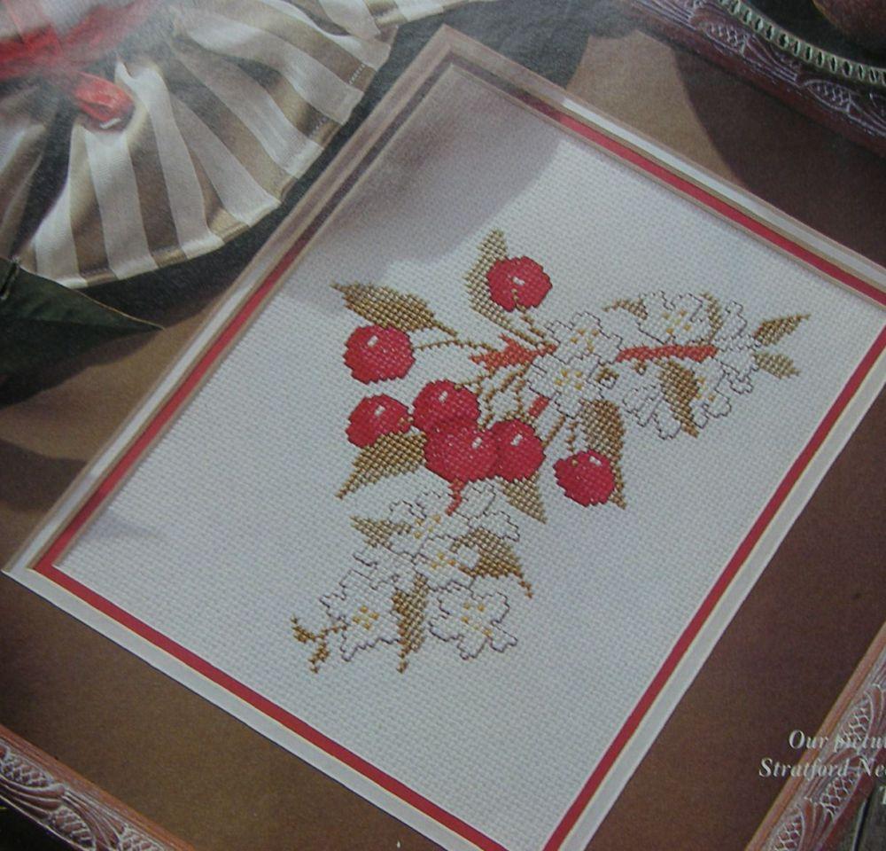 Wild Cherry Blossom Study ~ Cross Stitch Chart