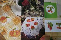 Summer Fruits Jam Jar Lacies ~ Five Cross Stitch Charts