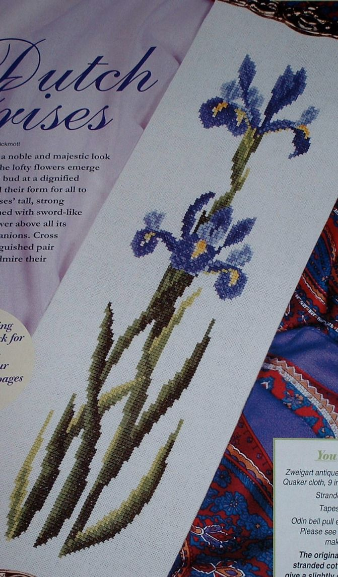 Dutch Iris Bellpull ~ Cross Stitch Chart