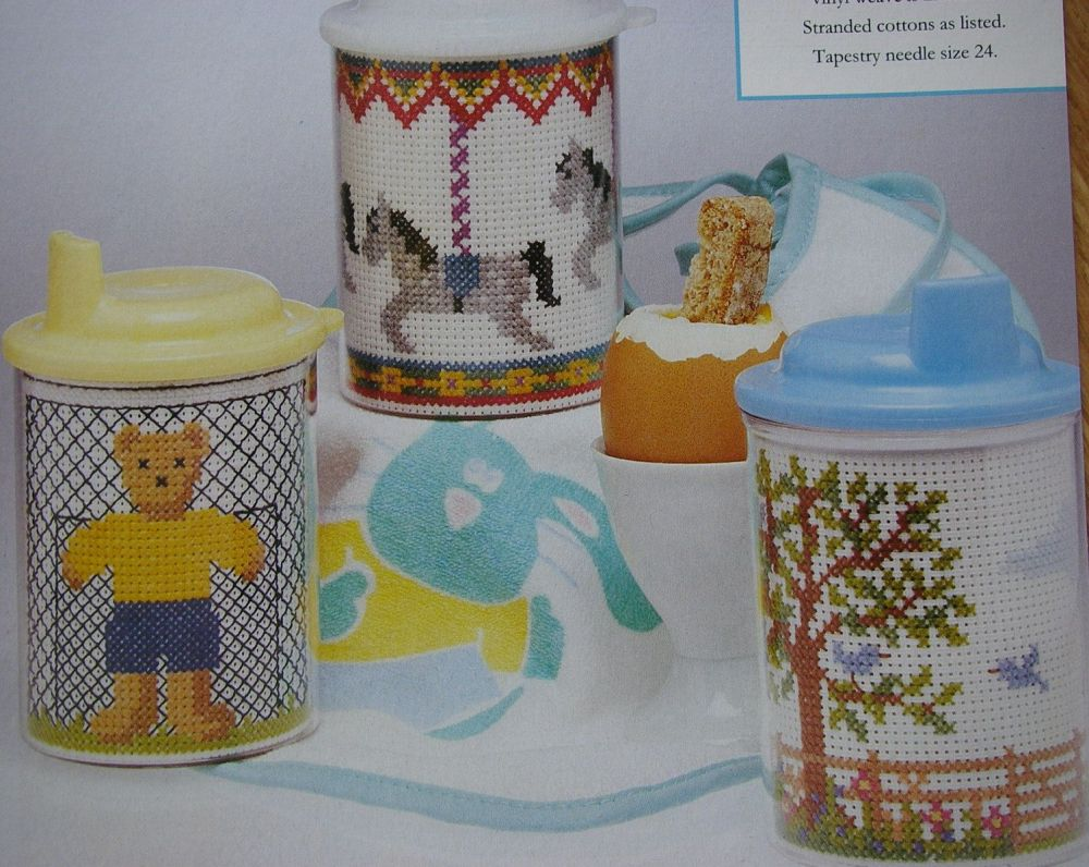 Baby Sipper Inserts ~ Three Cross Stitch Charts