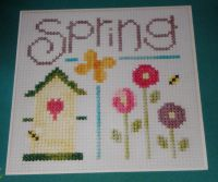 Lizzie*Kate: Spring Sampler with Birdhouse ~ Cross Stitch Chart