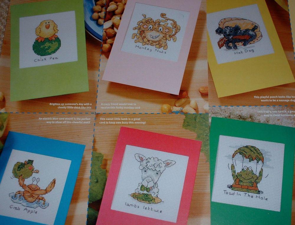7 Cute Animal Cards ~ Cross Stitch Charts