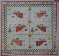 Christmas Angel Sampler/Cards ~ Cross Stitch Charts