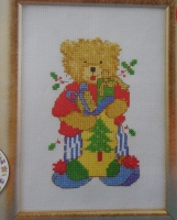 Teddy Bear with Christmas Stocking ~ Cross Stitch Chart