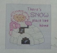 Snow Place Like Home Card ~ Cross Stitch Chart