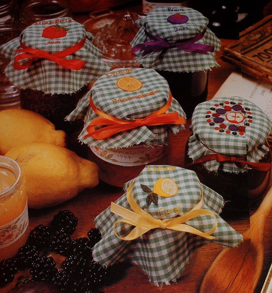 Fruit Jam Marmalade Jar Laceys ~ Hand Embroidery Patterns