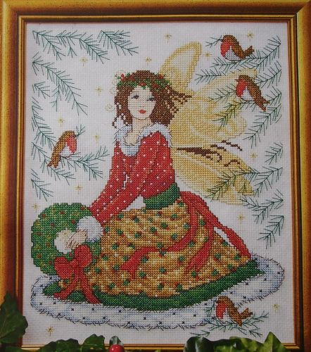 Christmas Fairy with Robins ~ Cross stitch Chart