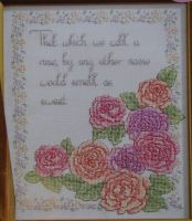 A Rose By Any Other Name ~ Cross Stitch Chart