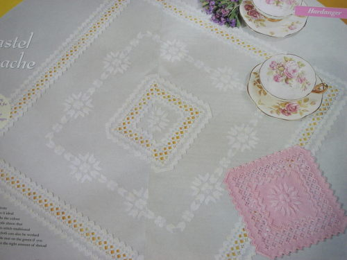 Caron Hardanger Tablecloth and Mat ~ Hardanger Pattern