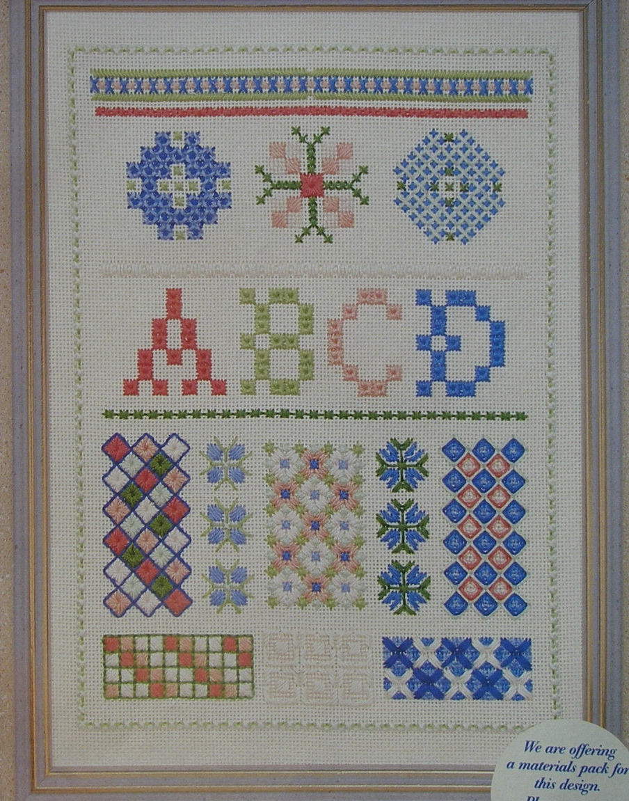 Hand embroidery stitches sampler congress cloth patterns