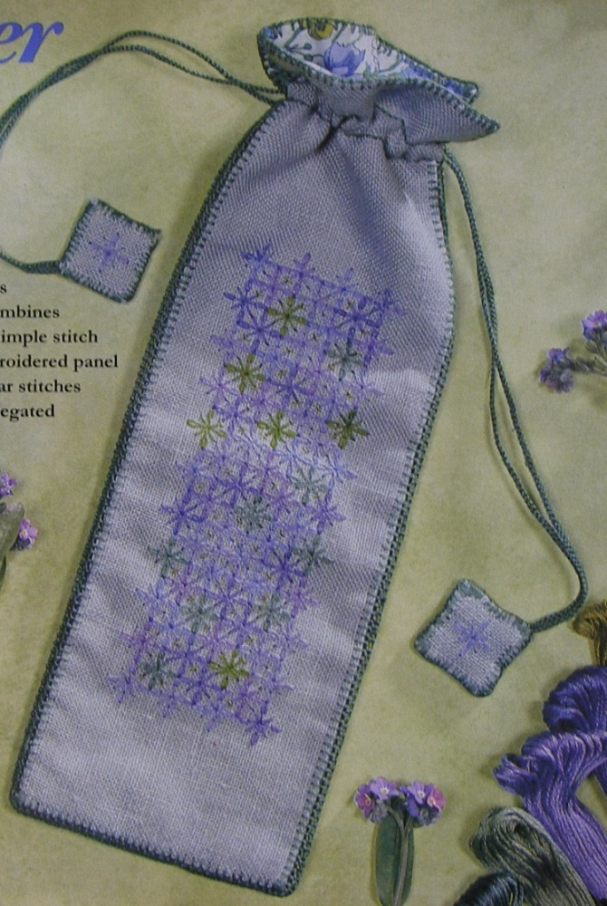 Wessex Stitchery Lavender Bag Queen Anns Lace Hand Embroidery Pattern