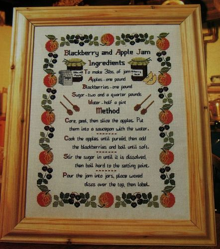 Blackberry & Apple Jam Recipe ~ Cross Stitch Chart