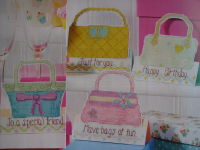 Chic Handbag Cards ~ Four Cross Stitch Charts