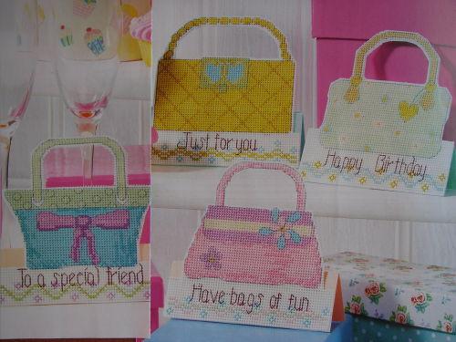 Chic Handbag Cards ~ Four Cross Stitch Charts