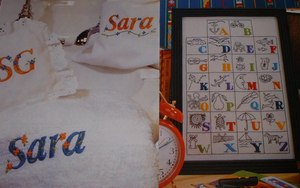 TWO Embroidered Alphabets ~ Embroidery Patterns